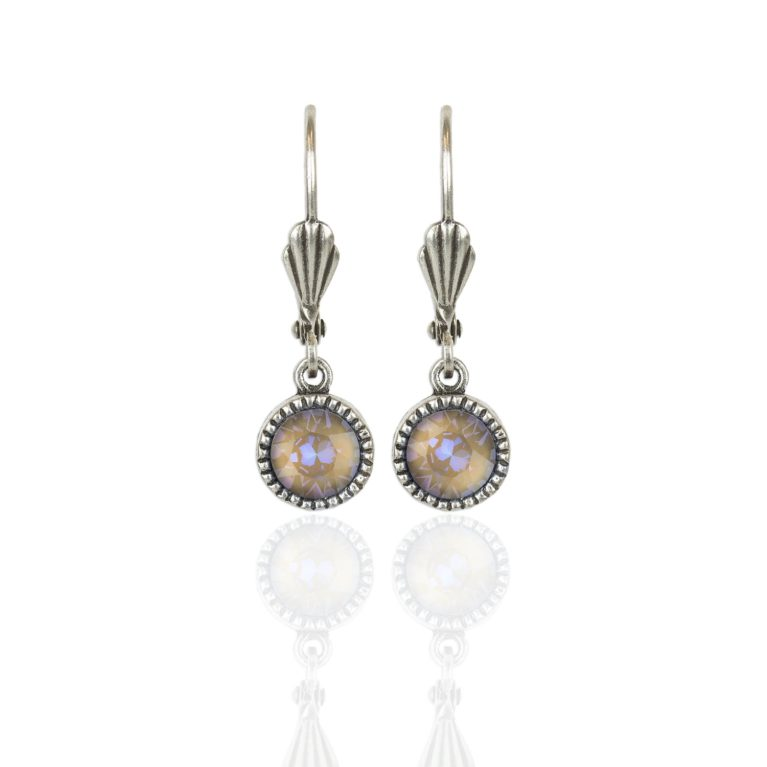 Cappuccino DeLite Silver Drop Earrings