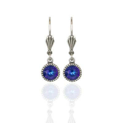 Royal Blue DeLite Silver Drop Earrings