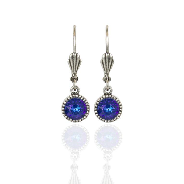 Royal Blue DeLite Silver Drop Earrings