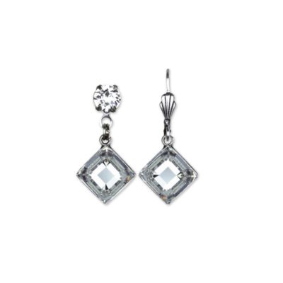 Graceful Leta Quadrilateral Crystal Swarovski® Earrings