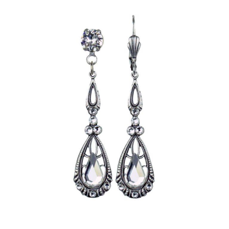 Solenne  Crystal Precious Earrings