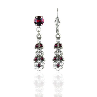 Bronte Banquet Of Flowers Swarovski® Siam Crystal Earrings