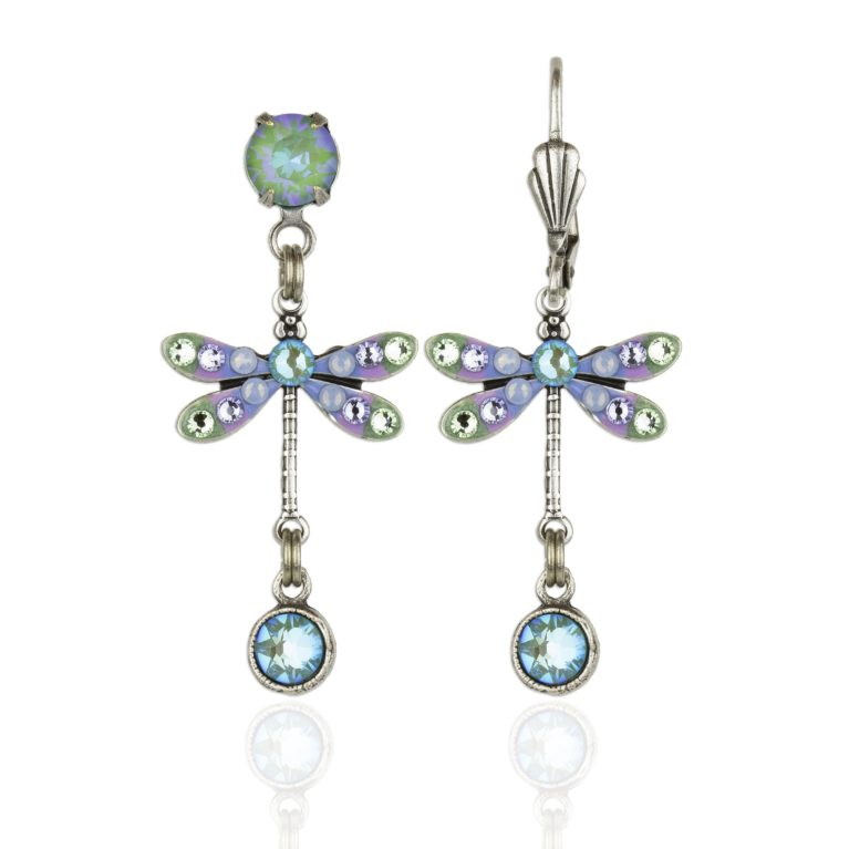 Brisa Swarovski® Crystal Dragonfly Earrings