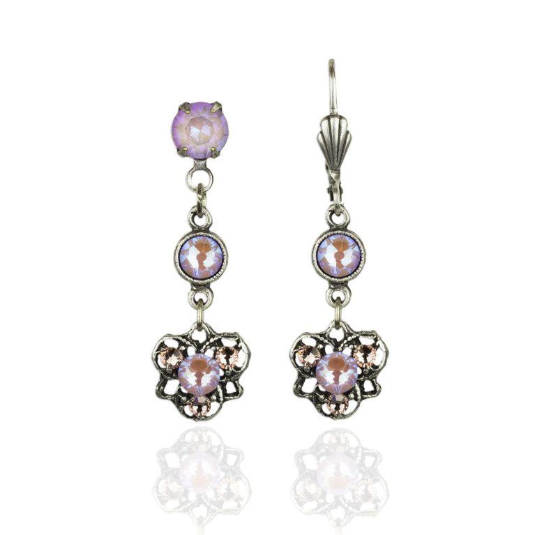Arabella Lavender Delite Crystal Earrings
