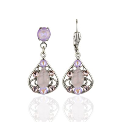 Blakely Lavender Delite Crystal Earrings