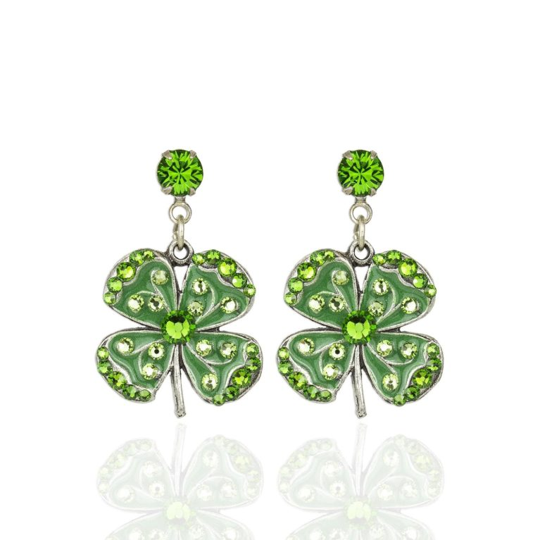 Madsy Four Leaf Clover Charm Earrings