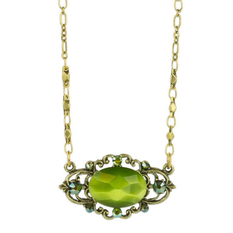 Mila Vintage Inspired Peridot Necklace