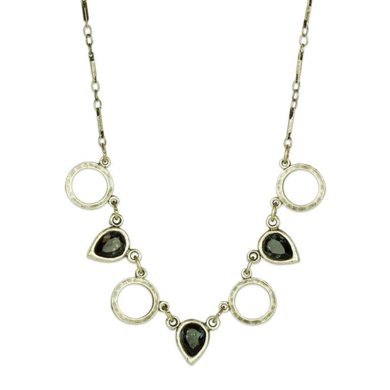 Hailey Silver Graphite Necklace