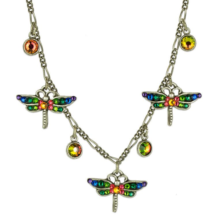 Karina Multicolored Dragonfly Necklace