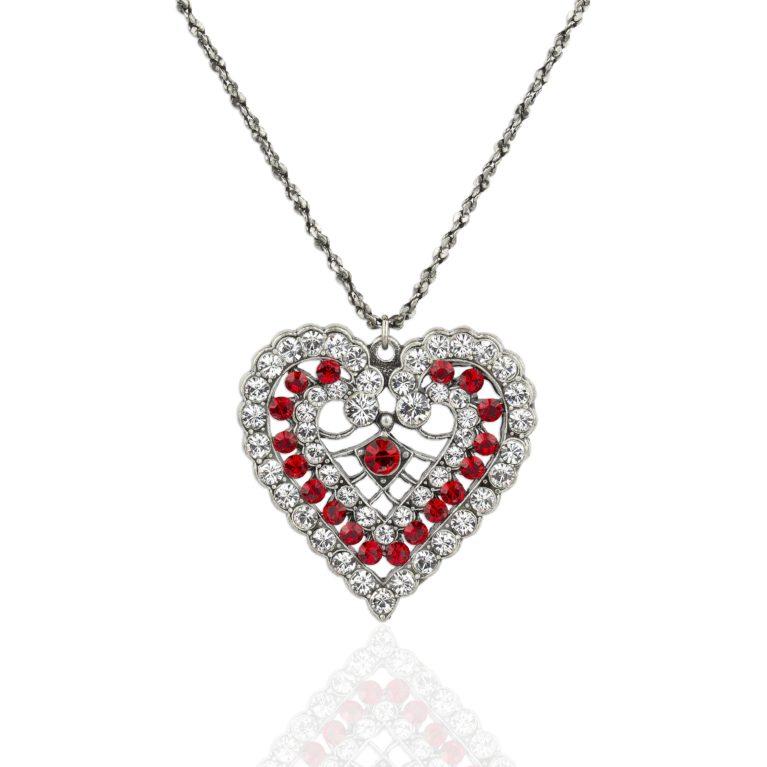Juliette Crystal Heart Necklace