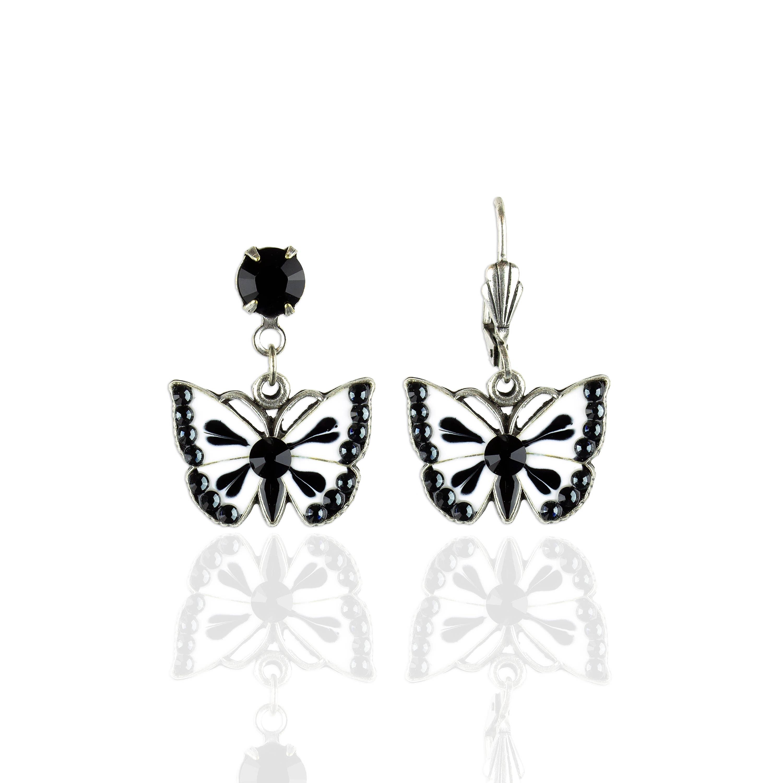 Madeiran  Crystal Butterfly Earrings