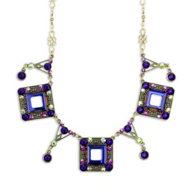 Aurora Borealis Multi Multi Necklace by Anne Koplik Designs jewelry, handcrafted brass necklaces made in Brewster NY
