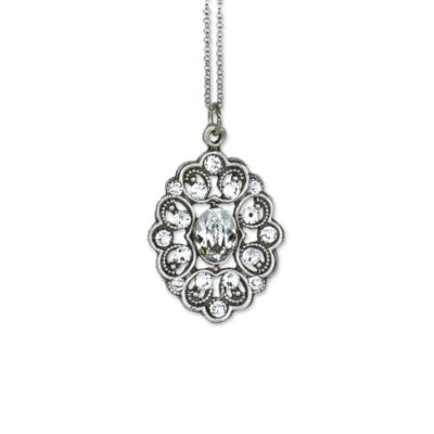 Chloe Crystal Pendant  by Anne Koplik Designs jewelry, handcrafted silver necklaces made in Brewster NY