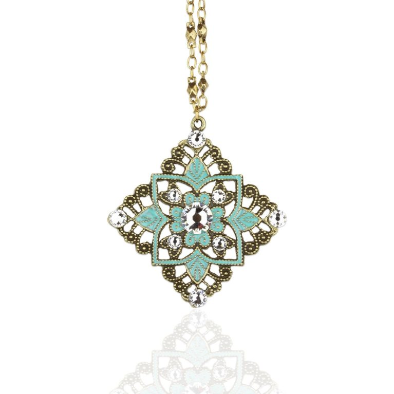 Dakota Aquamarine Crystal Necklace available at Anne Koplik Designs