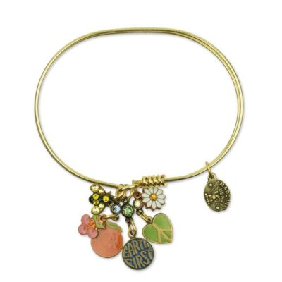 Fruit of the Earth Charm Bracelet available at Anne Koplik Designs, your source for brass Swarovski Stud Earrings