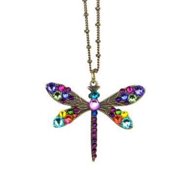 Galilee Wing Dragonfly Pendant by Anne Koplik Designs jewelry, handcrafted brass necklaces made in Brewster NY