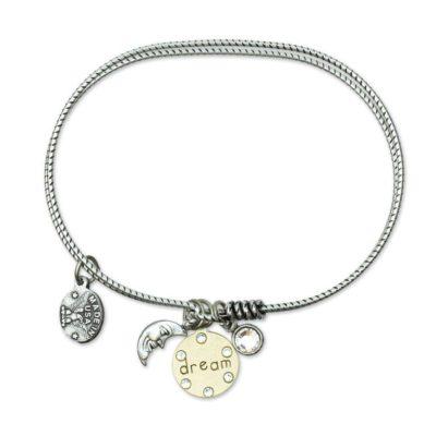 Inspirational Dream Jumble Bracelet by Anne Koplik Designs jewelry, handcrafted silver bracelets made in Brewster NY