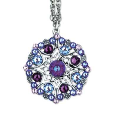 Kelby Amethyst Burgundy Delite Necklace by Anne Koplik Designs jewelry, handcrafted silver necklaces made in Brewster NY