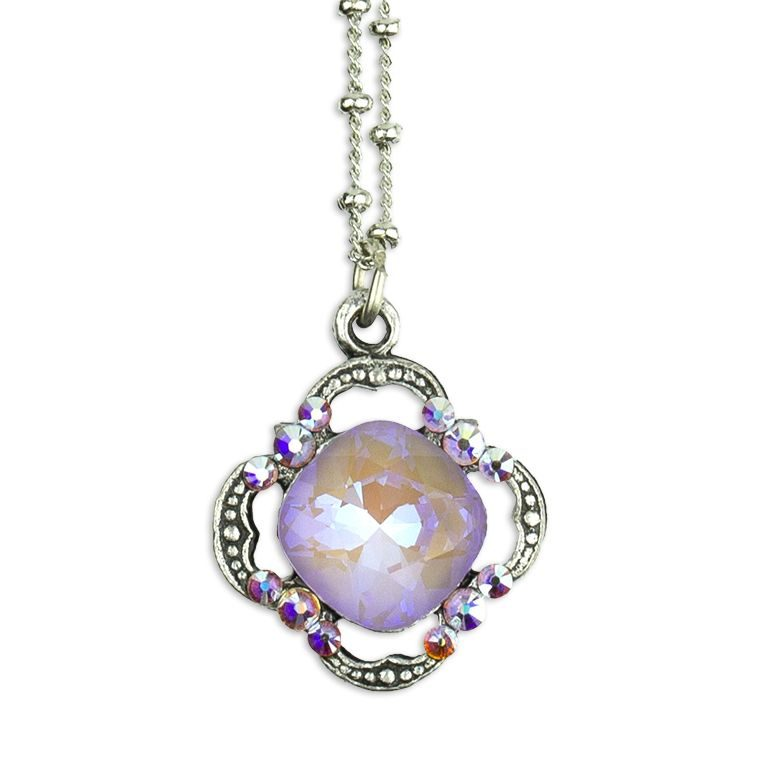 Lavender Delite Cushion Pendant by Anne Koplik Designs jewelry, handcrafted silver necklaces made in Brewster NY