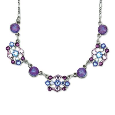 Lyrical Amethyst Burgundy Delite Necklace by Anne Koplik Designs jewelry, handcrafted silver necklaces made in Brewster NY