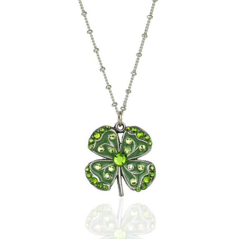 Madsy Four Leaf Clover Charm Necklace available at Anne Koplik Designs