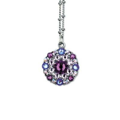 Mellie Amethyst Burgundy DeliteNecklace Pandent by Anne Koplik Designs jewelry, handcrafted silver necklaces made in Brewster NY