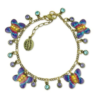 Millie Butterfly Bracelet  available at Anne Koplik Designs, your source for brass Swarovski Stud Earrings