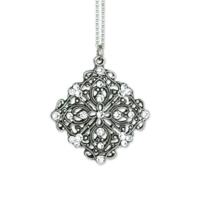 Moonlight Crystal Pendant by Anne Koplik Designs jewelry, handcrafted silver necklaces made in Brewster NY