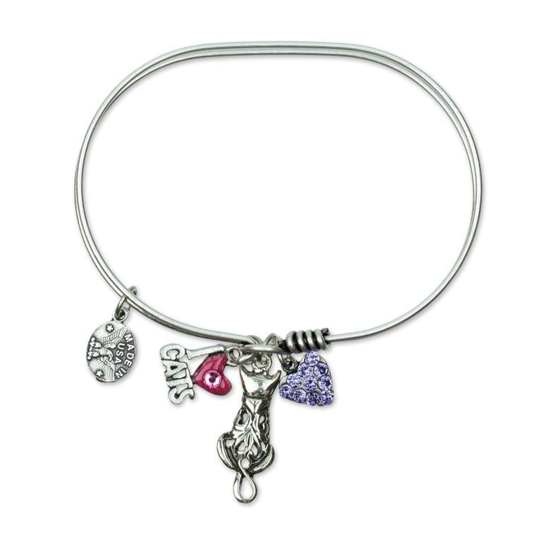 Nala Cat Swarovski® Crystal Jumble Bracelet by Anne Koplik Designs jewelry, handcrafted silver bracelets made in Brewster NY