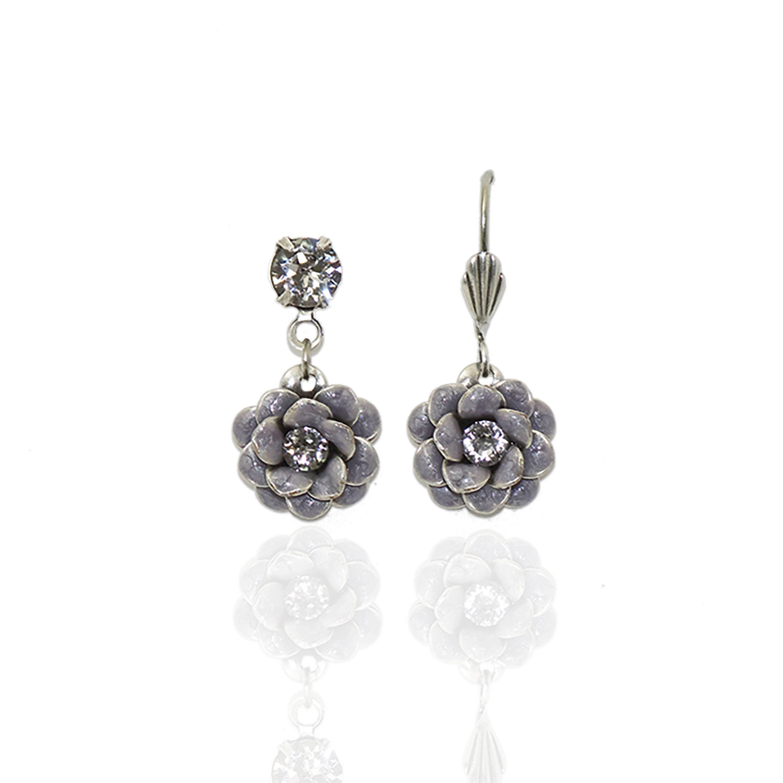 Rosette Crystal Earrings