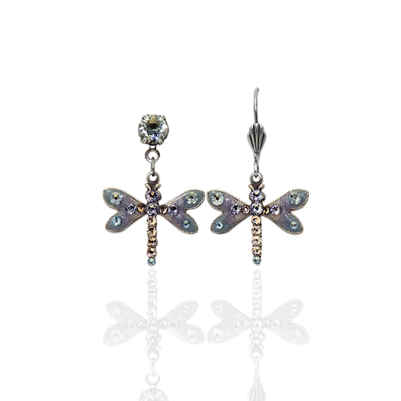 Nyssa Crystal Dragonfly Earrings