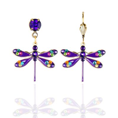 Allora  Crystal Dragonfly Earrings