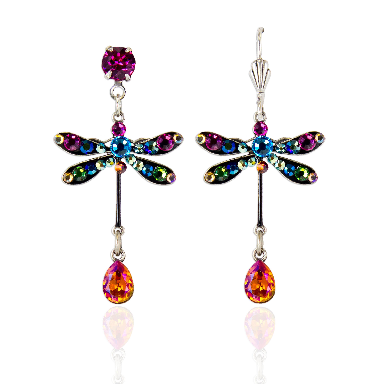 Venus  Crystal Dragonfly Earrings